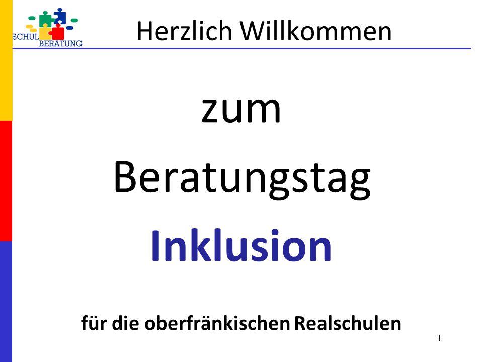 zum Beratungstag Inklusion für die oberfränkischen Realschulen