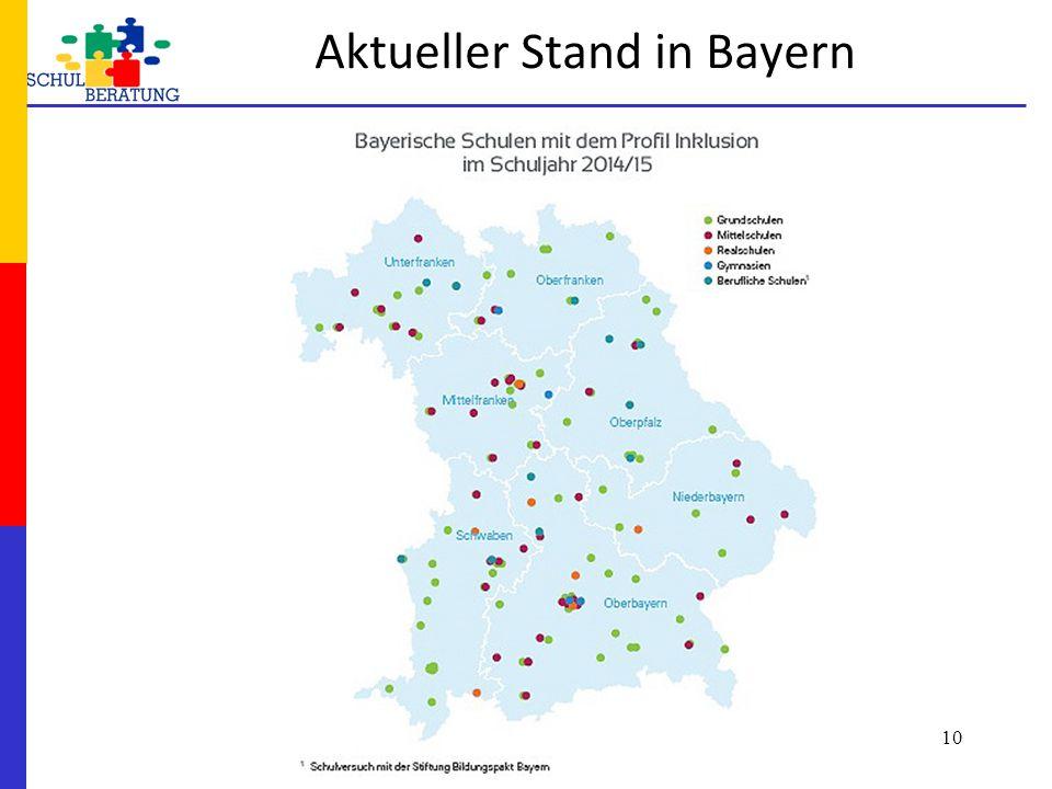 Aktueller Stand in Bayern