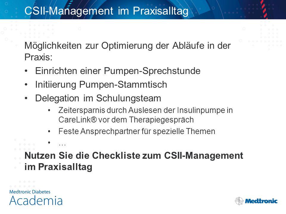 CSII-Management im Praxisalltag