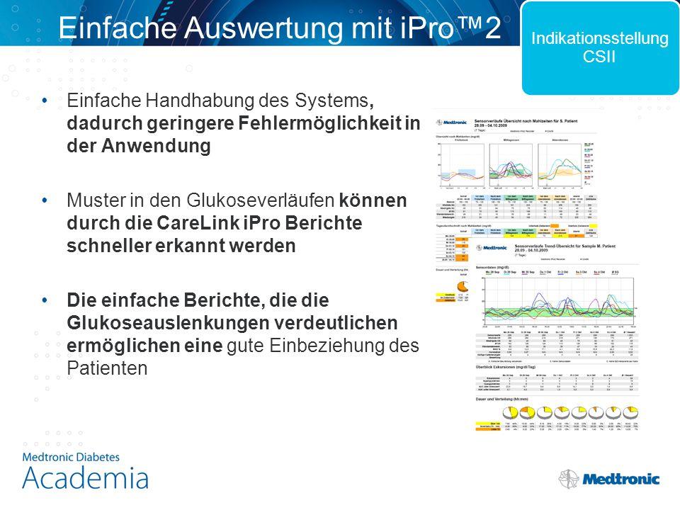 Einfache Auswertung mit iPro™2