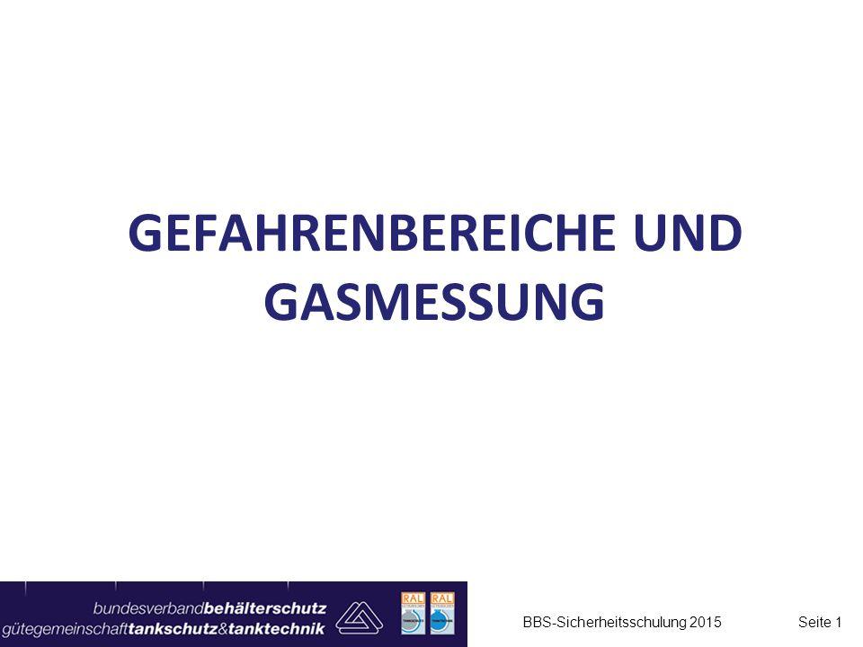 Gefahrenbereiche und Gasmessung