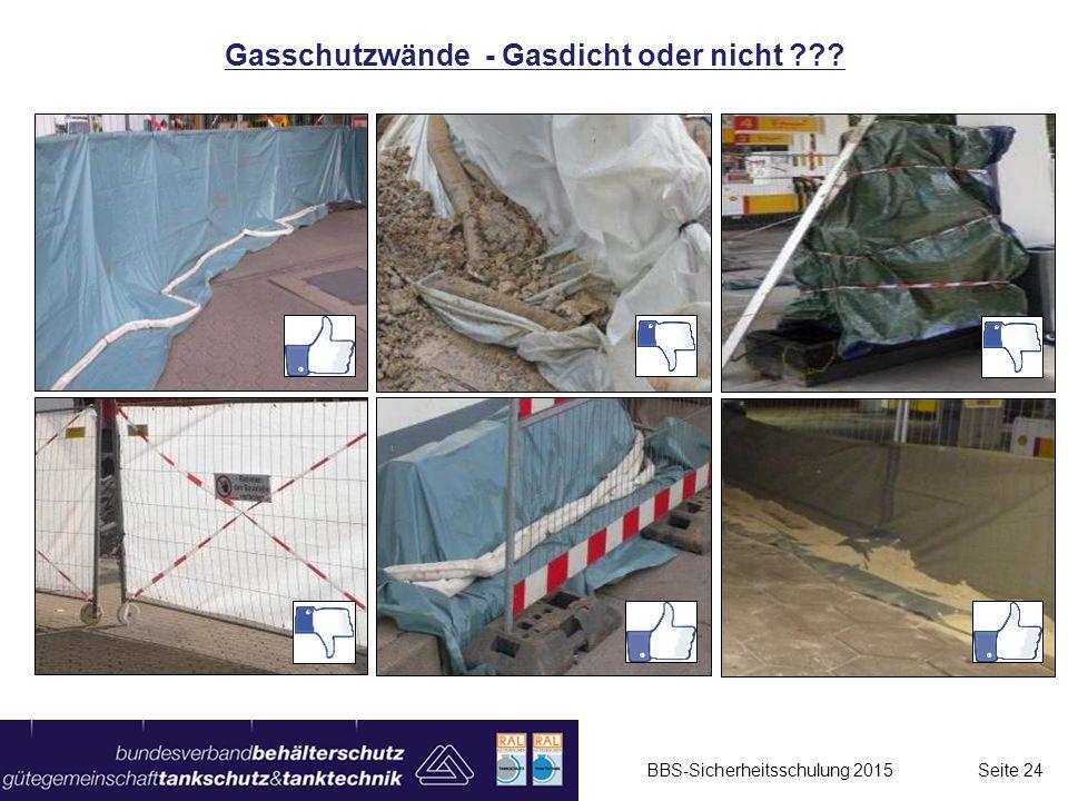Gasschutzwände - Gasdicht oder nicht