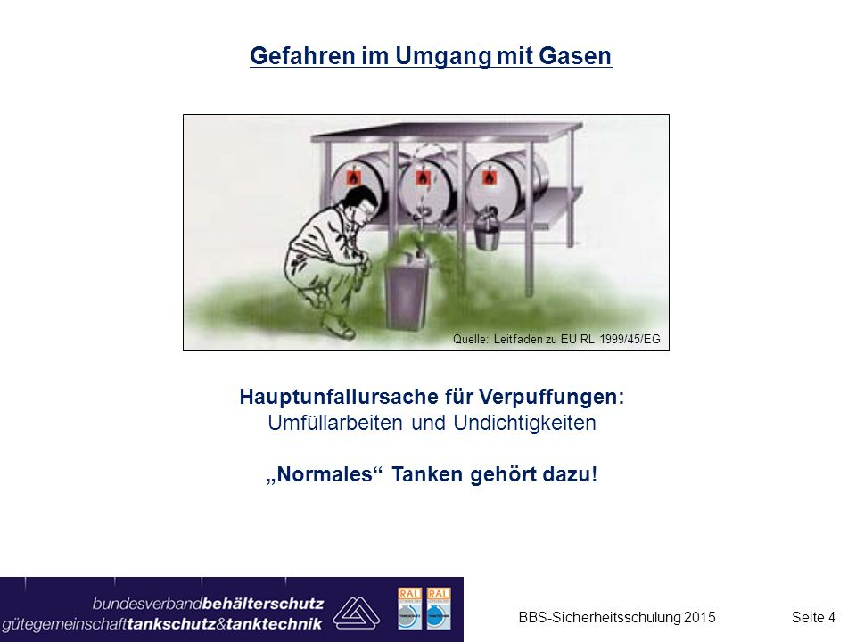 Gefahren im Umgang mit Gasen