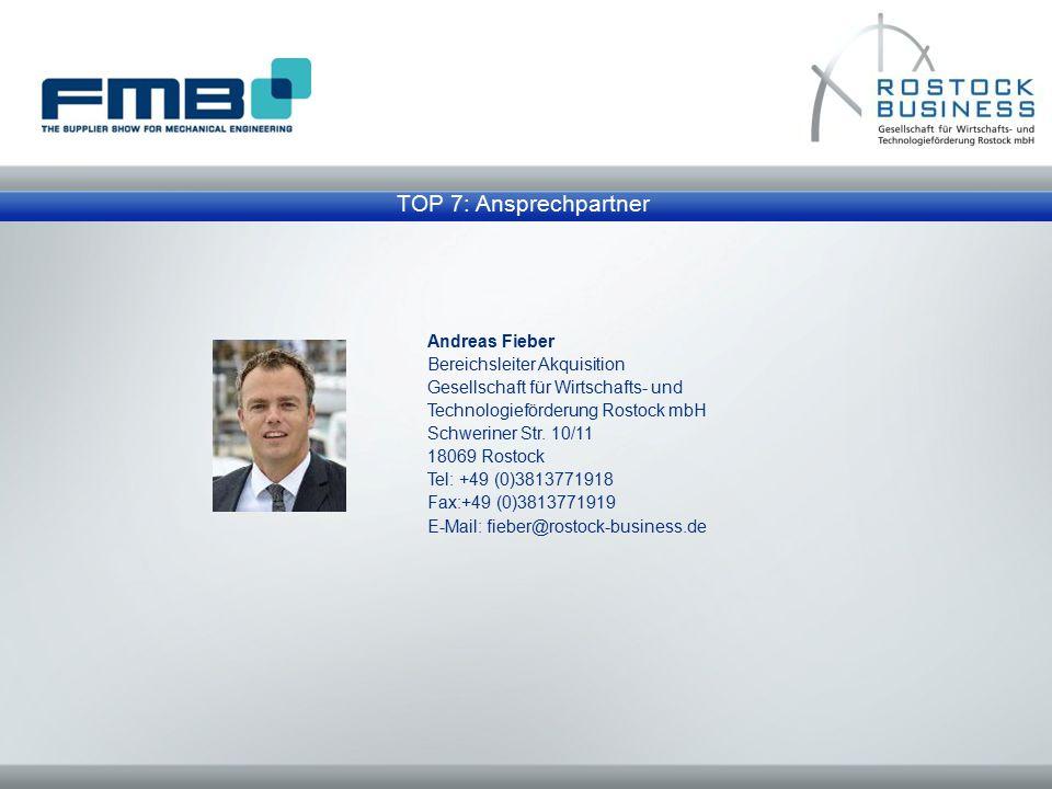 TOP 7: Ansprechpartner Andreas Fieber Bereichsleiter Akquisition