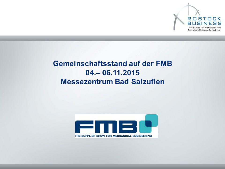 Gemeinschaftsstand auf der FMB Messezentrum Bad Salzuflen