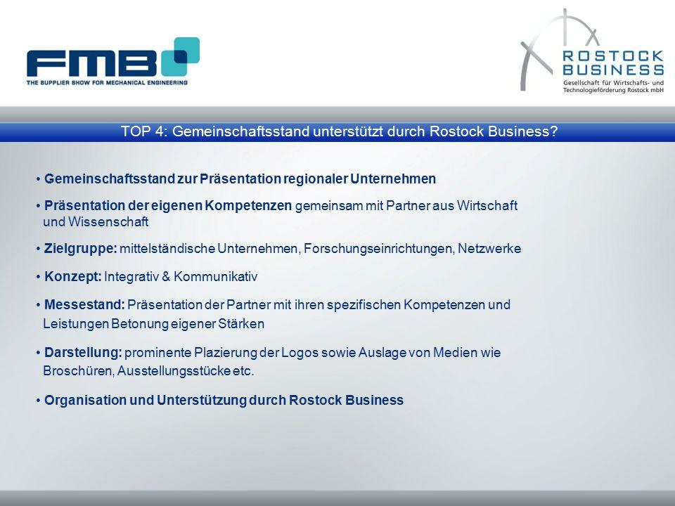 TOP 4: Gemeinschaftsstand unterstützt durch Rostock Business