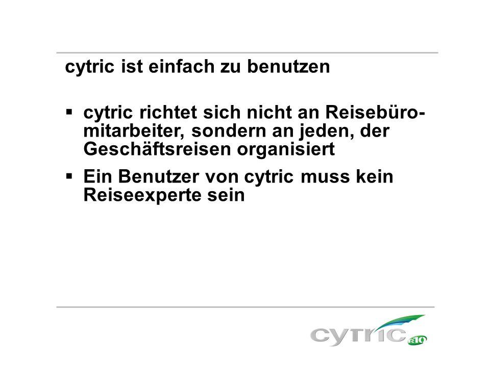 cytric ist einfach zu benutzen