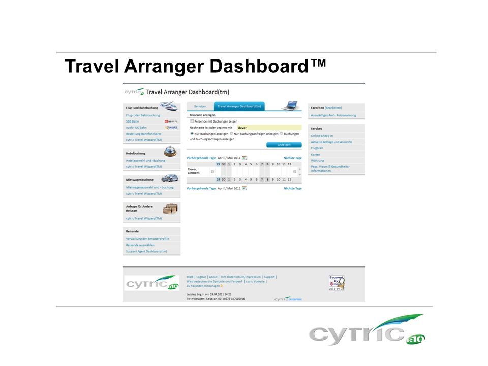 Travel Arranger Dashboard™