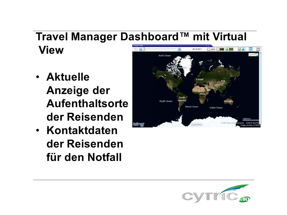 Travel Manager Dashboard™ mit Virtual