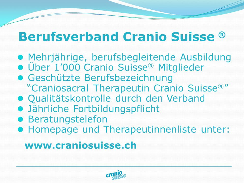 Berufsverband Cranio Suisse ®