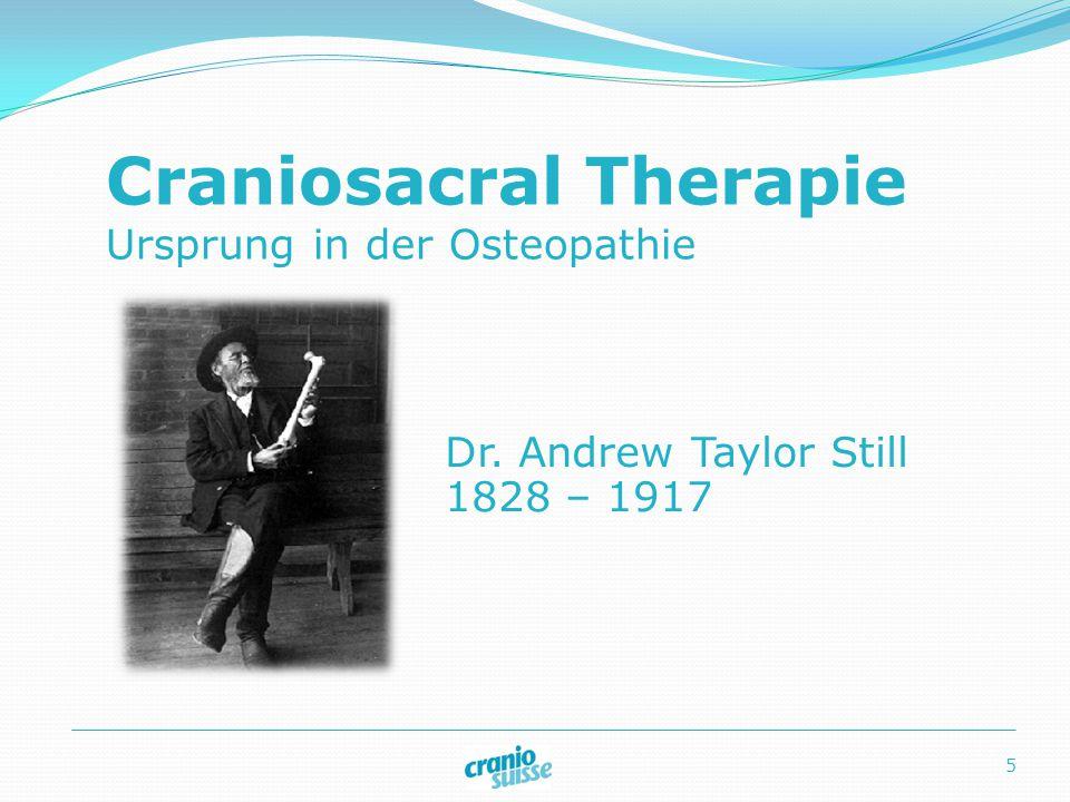 Craniosacral Therapie Ursprung in der Osteopathie