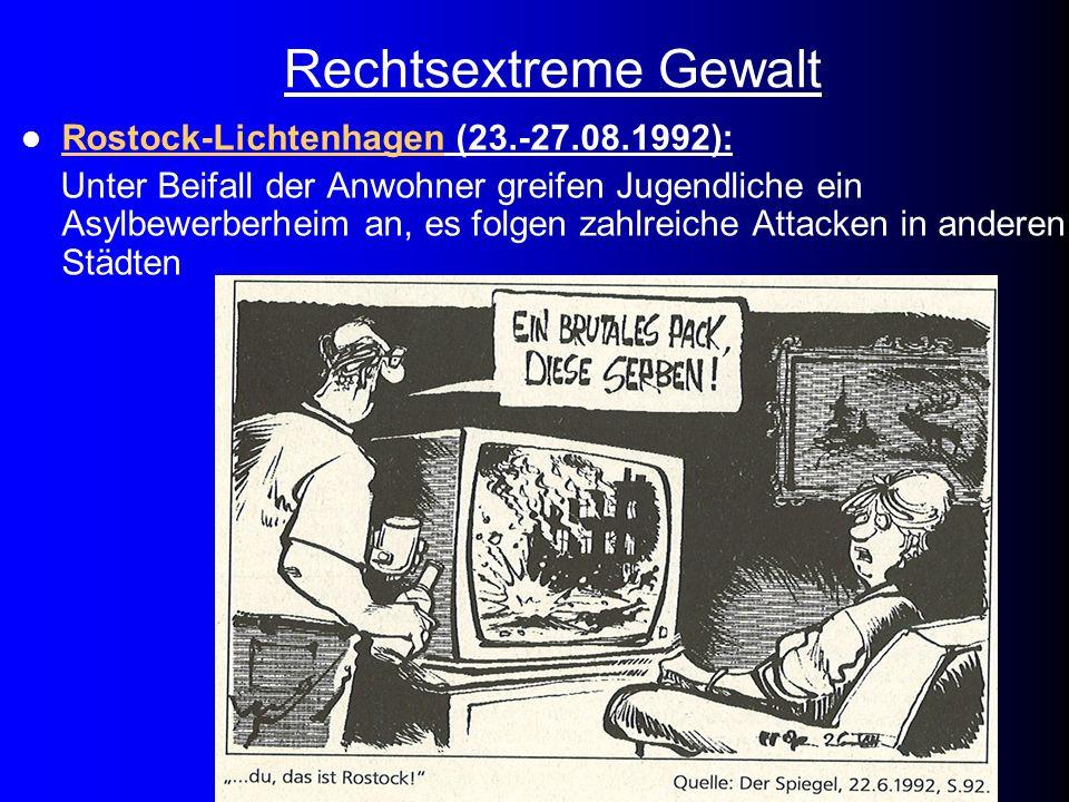 Rechtsextreme Gewalt Rostock-Lichtenhagen (23.-27.08.1992):