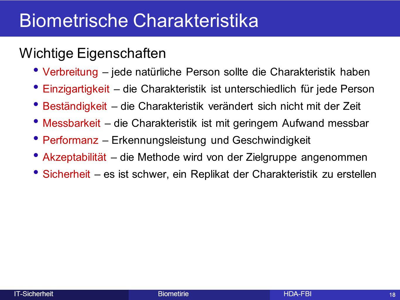 Biometrische Charakteristika