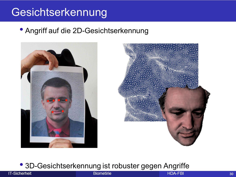 Gesichtserkennung Angriff auf die 2D-Gesichtserkennung