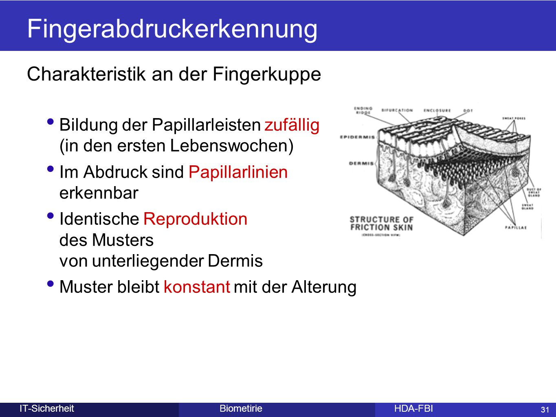 Fingerabdruckerkennung