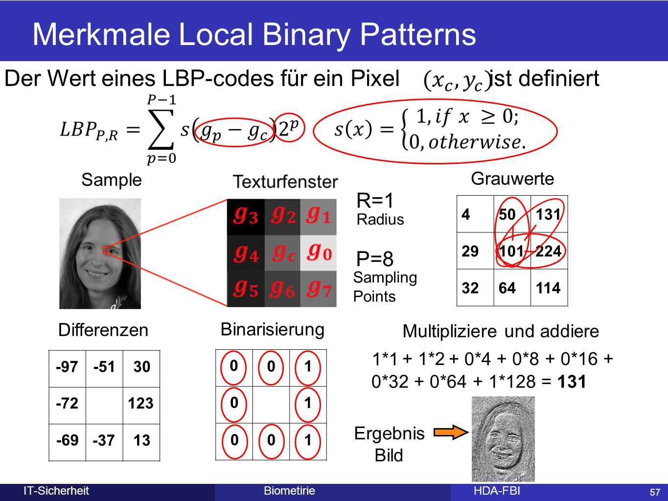 Merkmale Local Binary Patterns