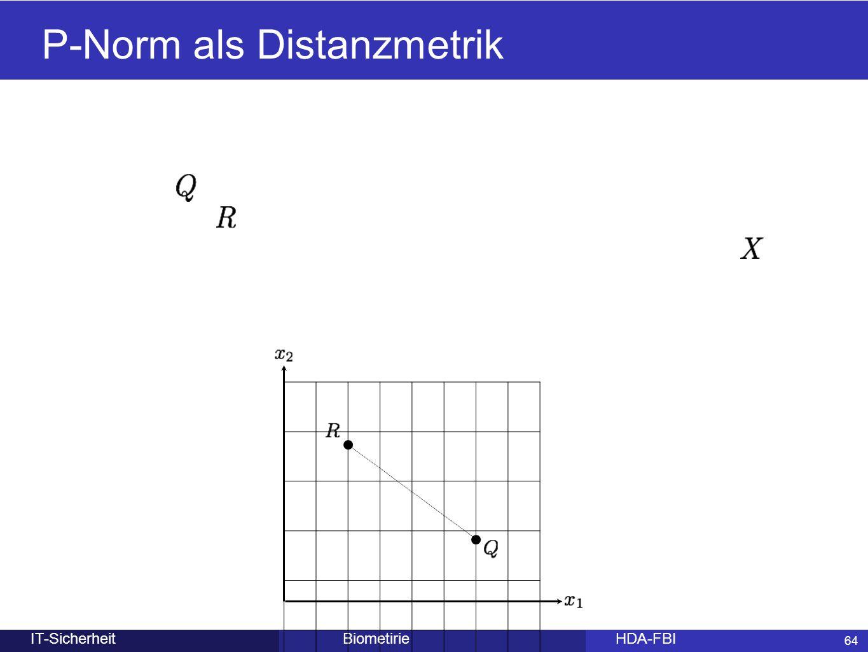 P-Norm als Distanzmetrik