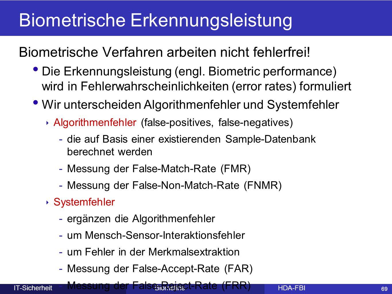 Biometrische Erkennungsleistung