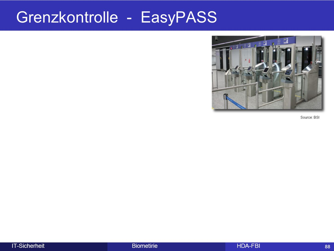 Grenzkontrolle - EasyPASS