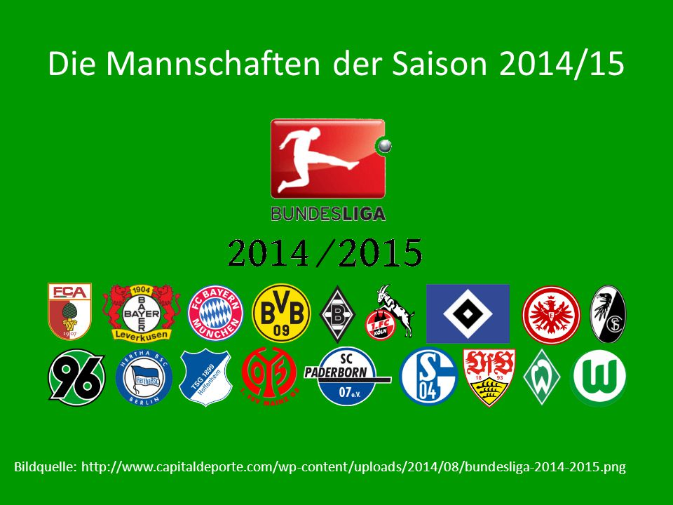 Die Mannschaften der Saison 2014/15