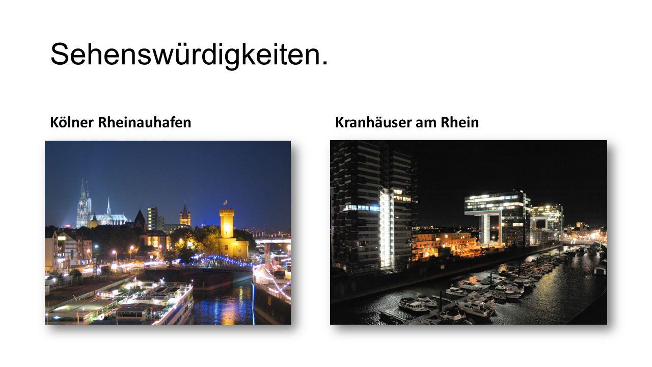 Sehenswürdigkeiten. Kölner Rheinauhafen Kranhäuser am Rhein