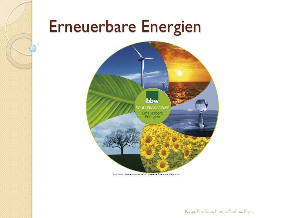Erneuerbare Energien Katja, Marlène, Nadja, Paulina, Myra