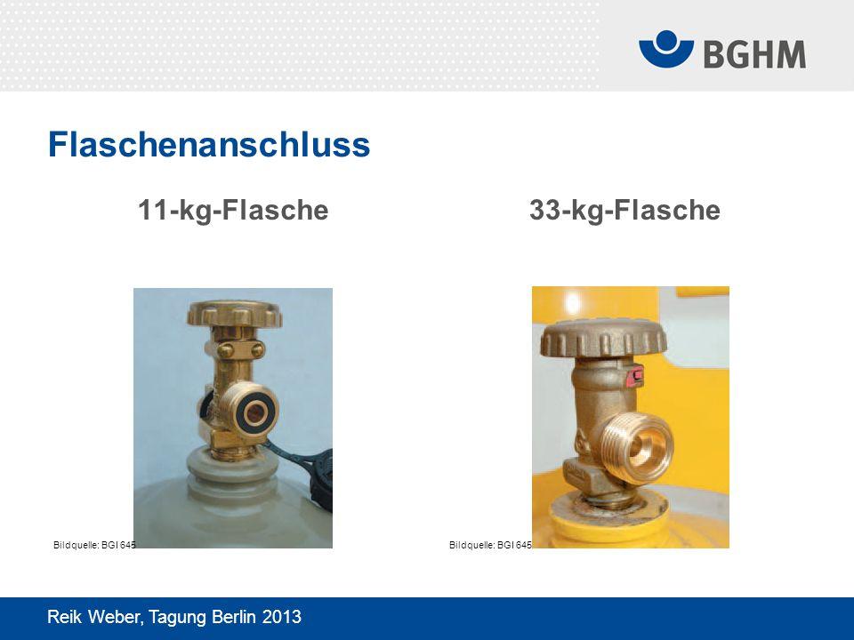 Flaschenanschluss 11-kg-Flasche 33-kg-Flasche
