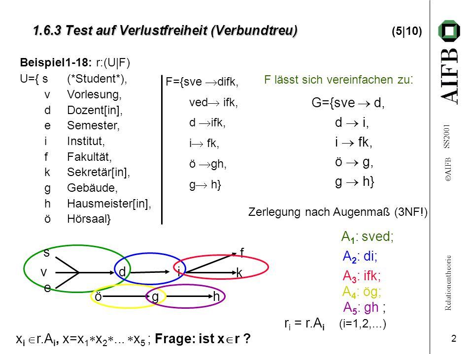 1.6.3 Test auf Verlustfreiheit (Verbundtreu) (5|10)
