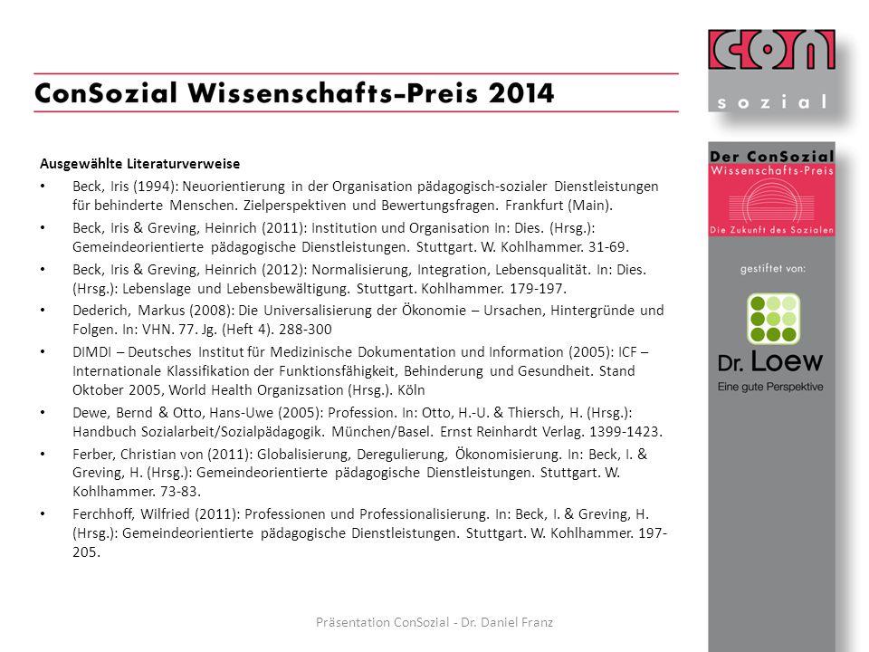 Präsentation ConSozial - Dr. Daniel Franz
