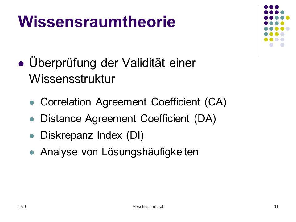 Wissensraumtheorie Überprüfung der Validität einer Wissensstruktur