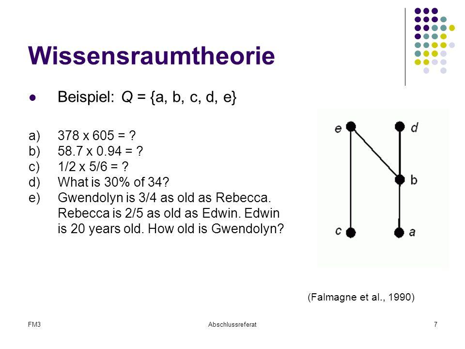 Wissensraumtheorie Beispiel: Q = {a, b, c, d, e} a) 378 x 605 =