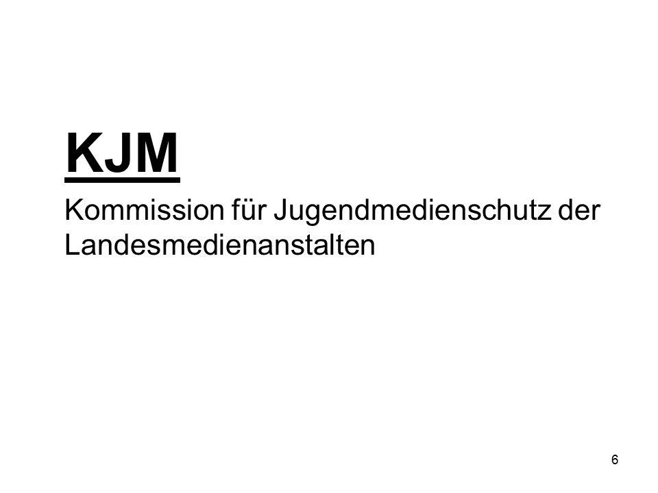 KJM Kommission für Jugendmedienschutz der Landesmedienanstalten