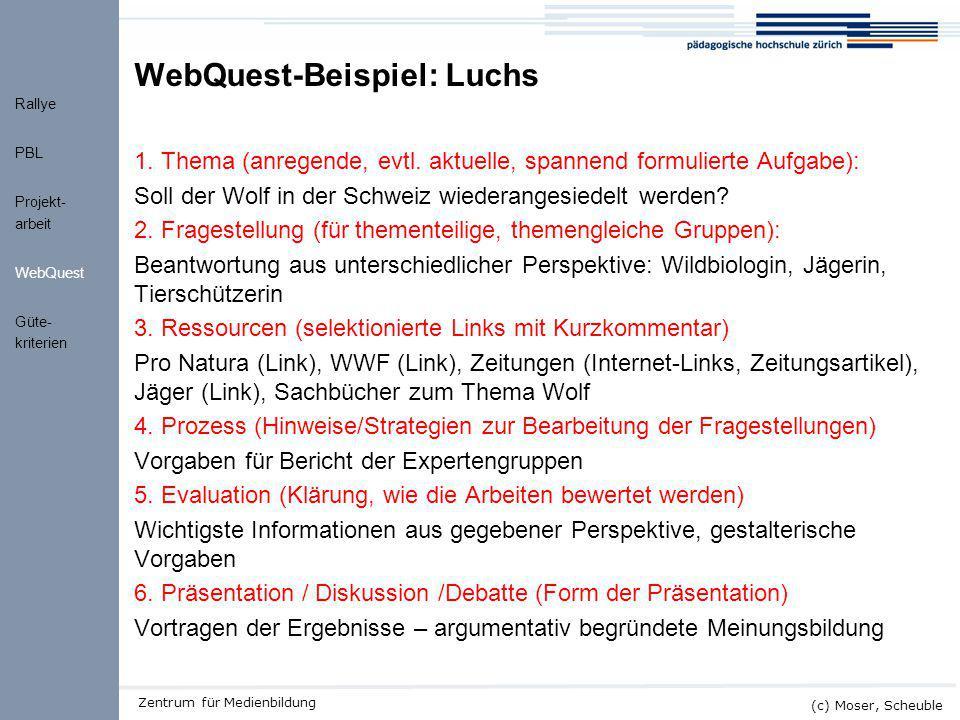 WebQuest-Beispiel: Luchs