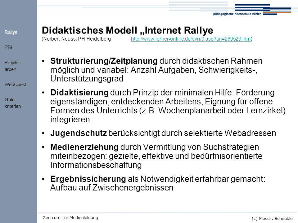 "Didaktisches Modell ""Internet Rallye (Norbert Neuss, PH Heidelberg"