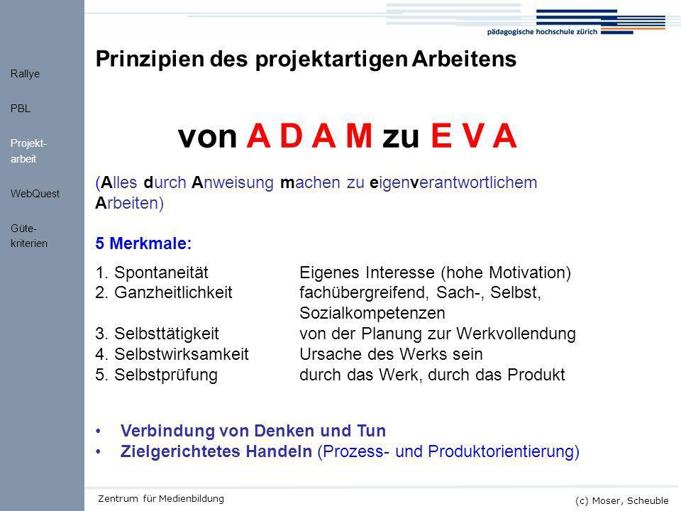 von A D A M zu E V A Prinzipien des projektartigen Arbeitens