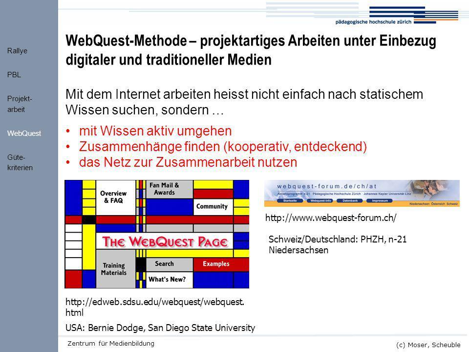 WebQuest-Methode – projektartiges Arbeiten unter Einbezug digitaler und traditioneller Medien
