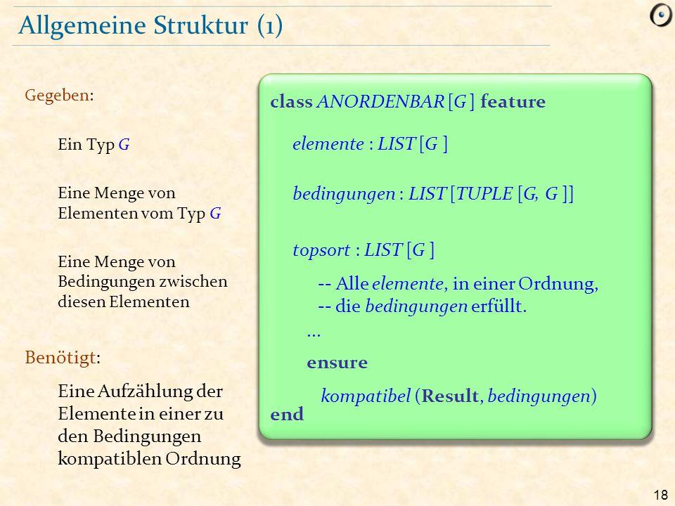 Allgemeine Struktur (1)
