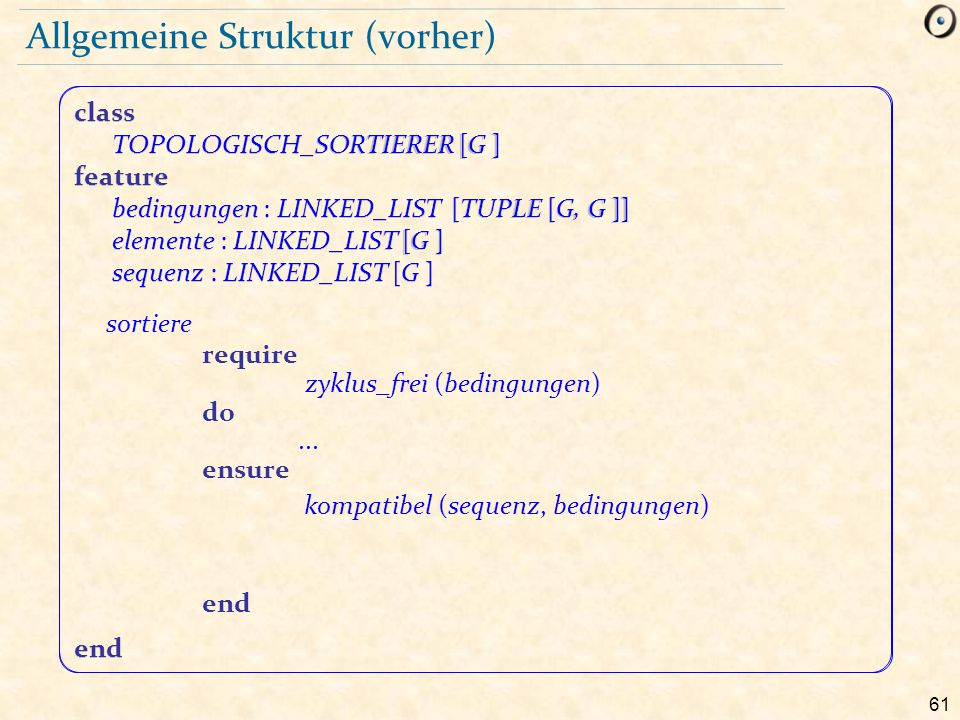Allgemeine Struktur (vorher)