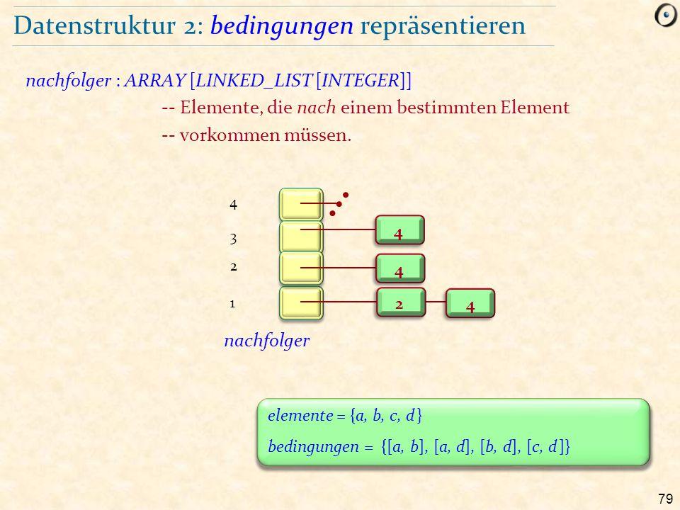 Datenstruktur 2: bedingungen repräsentieren