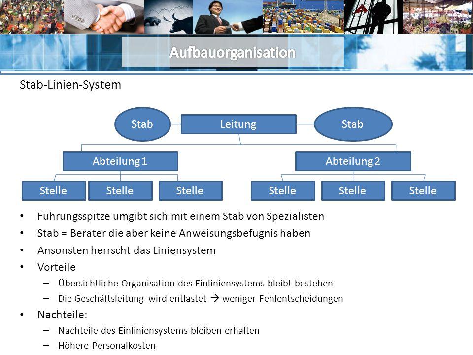 Aufbauorganisation Stab-Linien-System