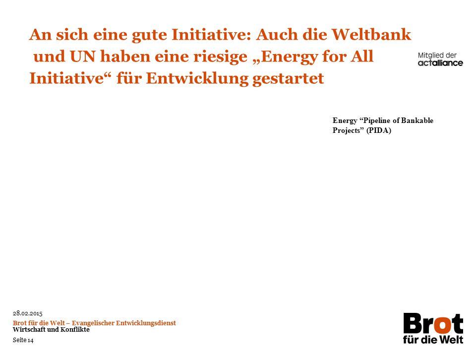 An sich eine gute Initiative: Auch die Weltbank