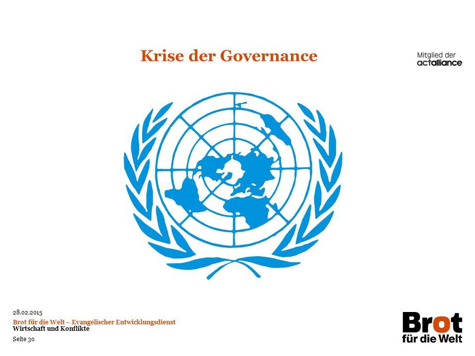 Krise der Governance