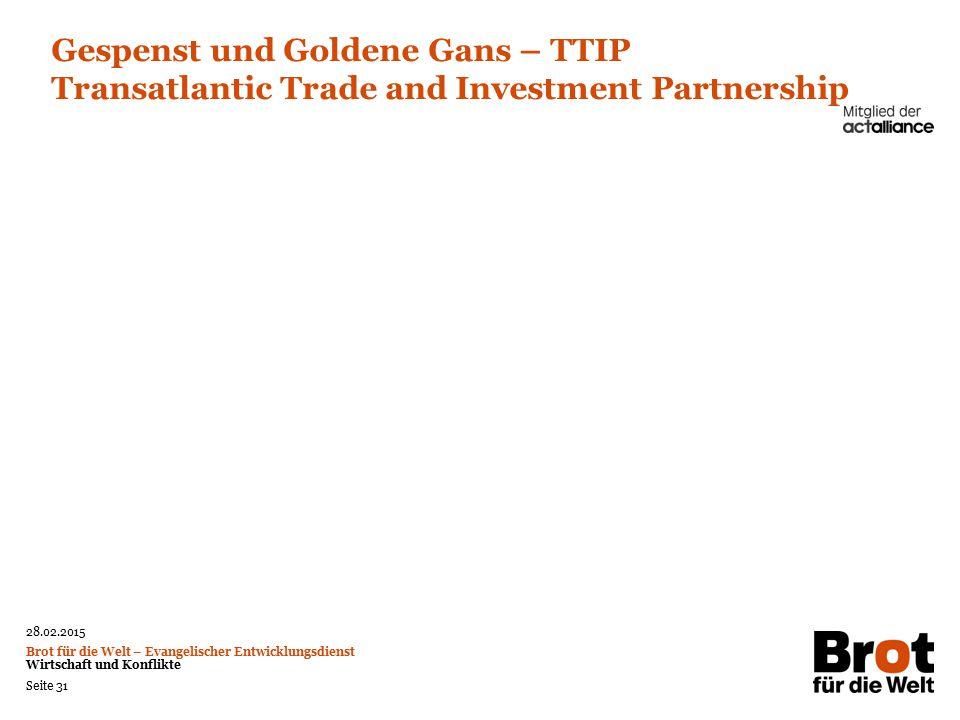 Gespenst und Goldene Gans – TTIP