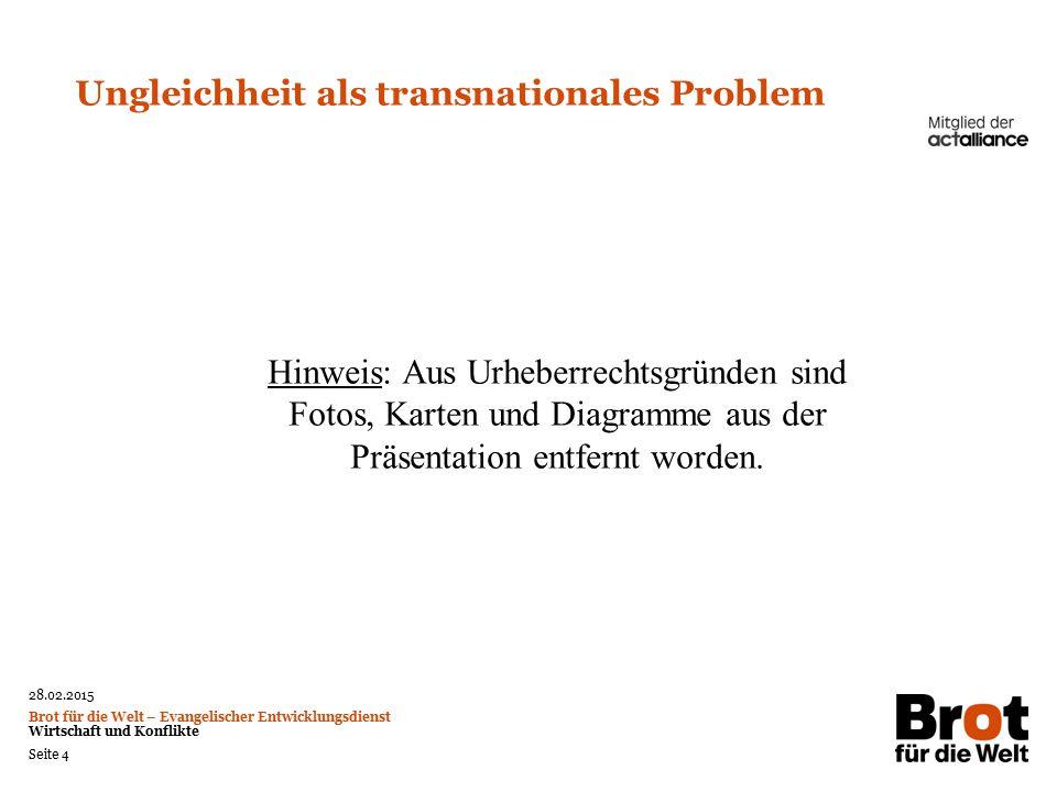 Ungleichheit als transnationales Problem