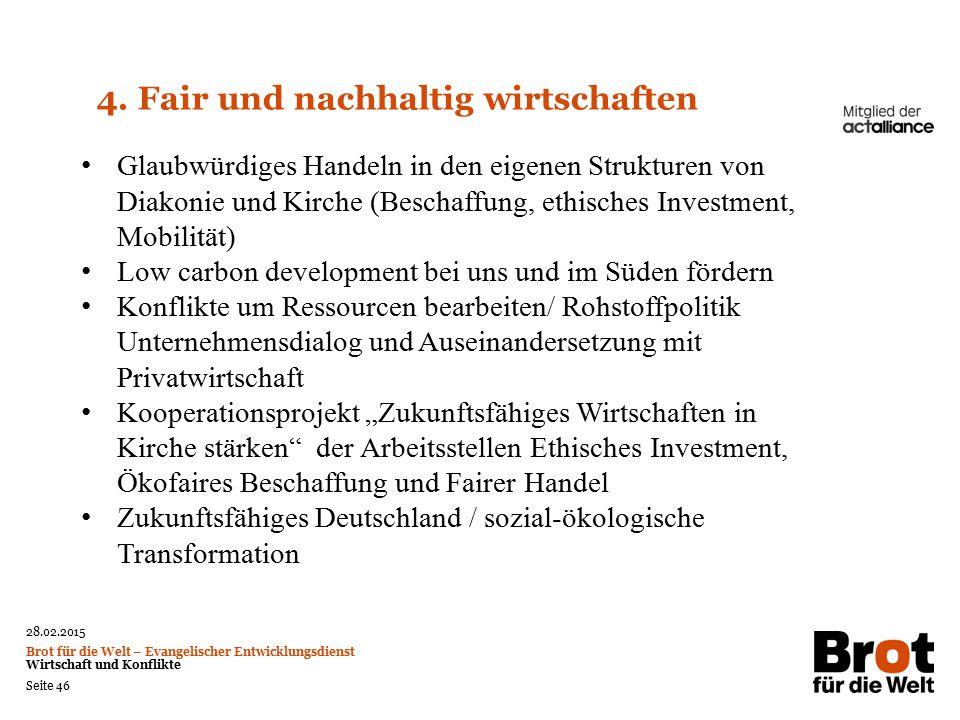 4. Fair und nachhaltig wirtschaften