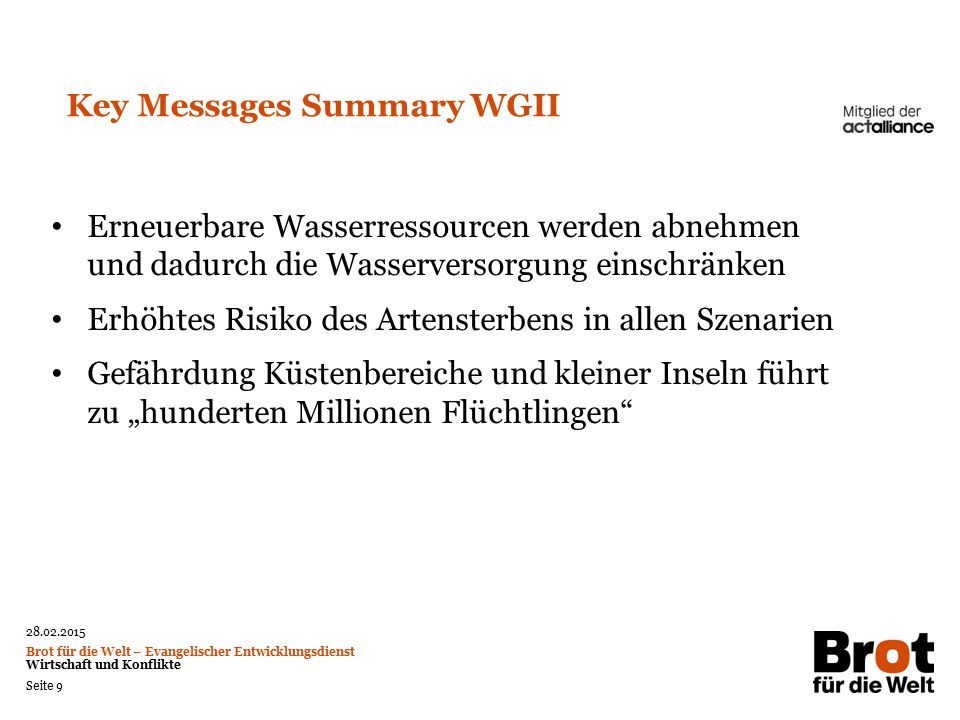 Key Messages Summary WGII