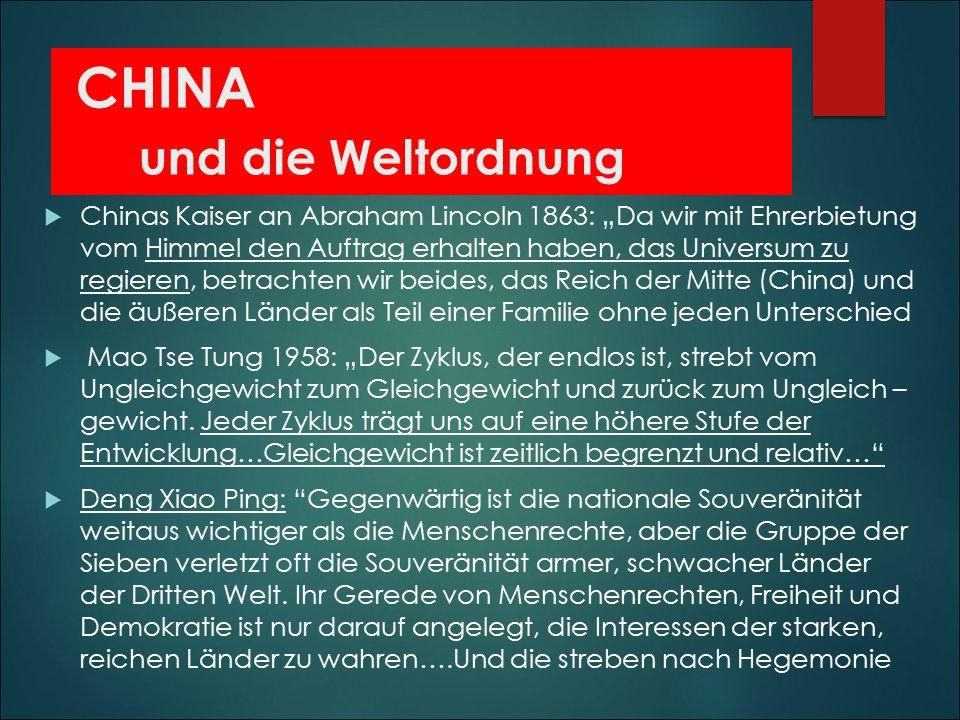 CHINA und die Weltordnung