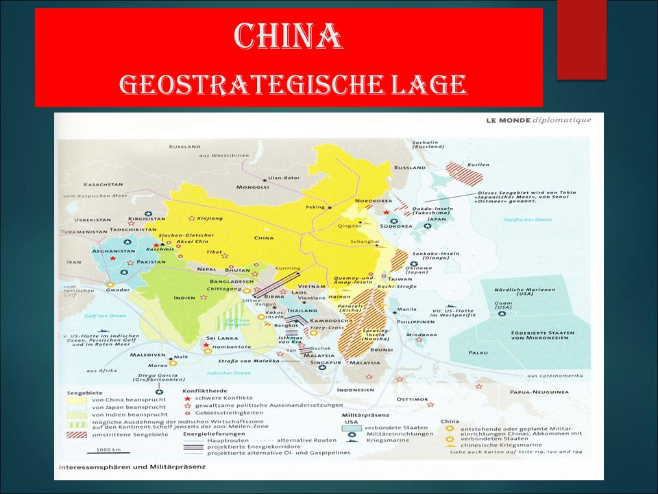 China geostrategische Lage