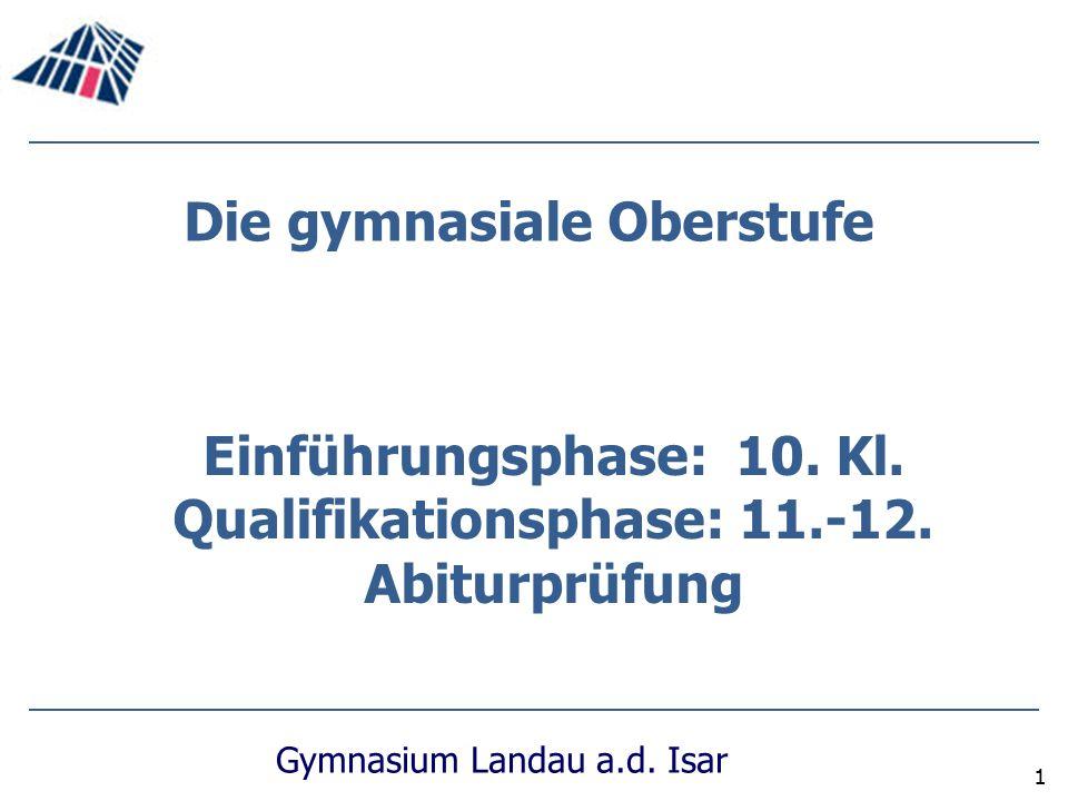 Die gymnasiale Oberstufe Qualifikationsphase: 11.-12.