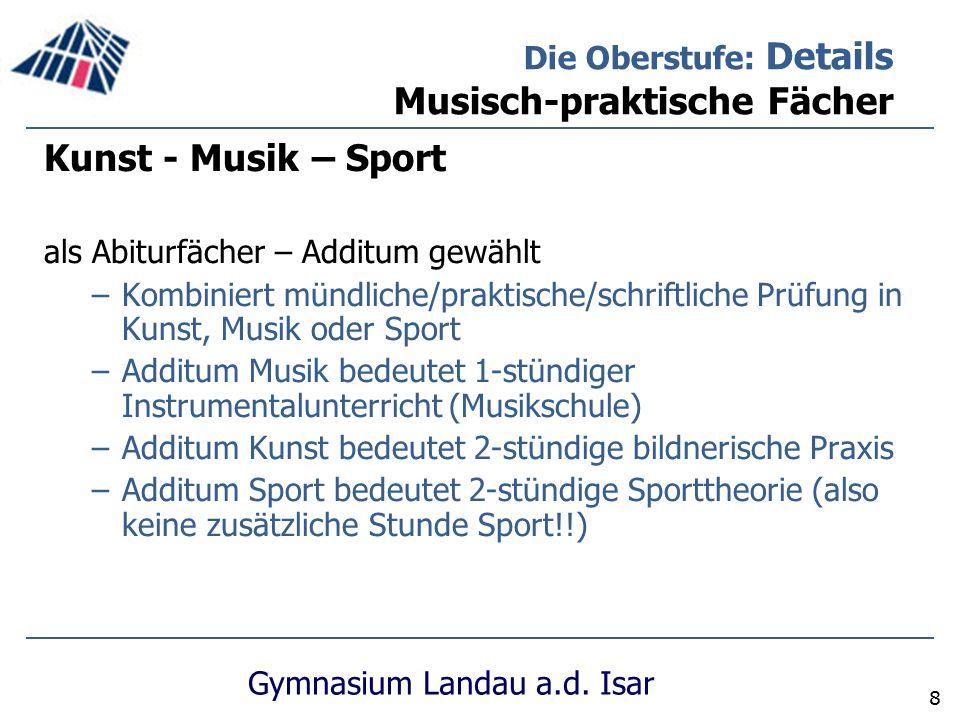 Kunst - Musik – Sport Die Oberstufe: Details Musisch-praktische Fächer